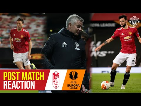 Solskjaer, Matic & Fernandes react to quarter final win | Manchester United 2-0 Granada CF