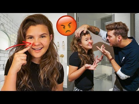 11 YR OLD GETS HER NOSE PIERCED PRANK ON DAD 😡 | Slyfox Family