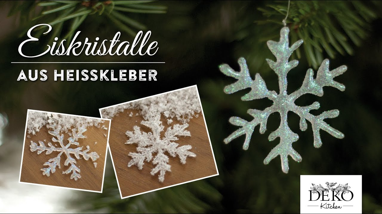 weihnachtsdeko basteln funkelnde eiskristalle aus hei kleber how to deko kitchen. Black Bedroom Furniture Sets. Home Design Ideas