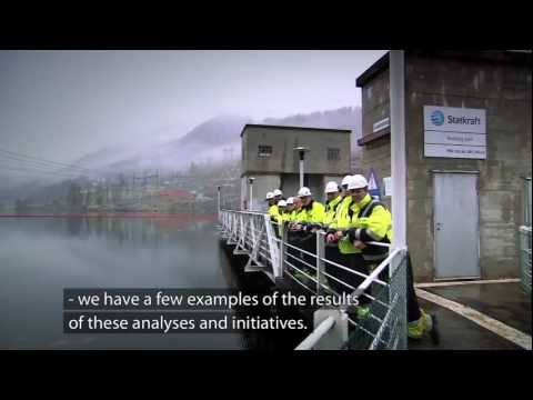 Safety near the hydro dams. Nore 1 power plant, Norway