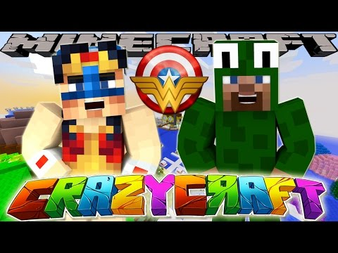 Minecraft Crazy Craft - CAPTAIN AMERICA BECOMES WONDER WOMAN!!
