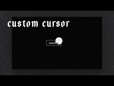 Custom Cursor -  HTML, CSS & JS