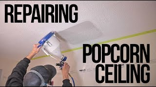 Popcorn Ceiling Repair Patch (The right way!)