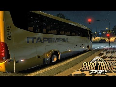 Euro Truck  2 Mod Bus | Itapemirim - São Paulo/Caratinga - Detail + EAA - 1080/60fps
