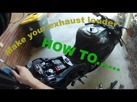 how to remove/disable the exhaust butterfly valve on your motorbike