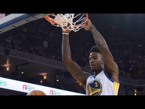 Jordan Bell self alley oop dunk and reaction from Steve Kerr and Rick Carlisle slam dunk contest
