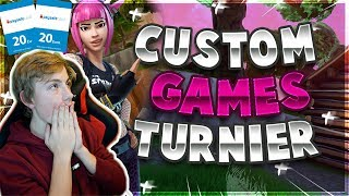 🔥 40€ CUSTOM GAMES TURNIER 🔥 CUSTOM GAMES MIT EUCH!🏆| Fortnite Live Deutsch