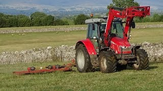 Topping Pasture with Massey Ferguson & Slewtic Topper