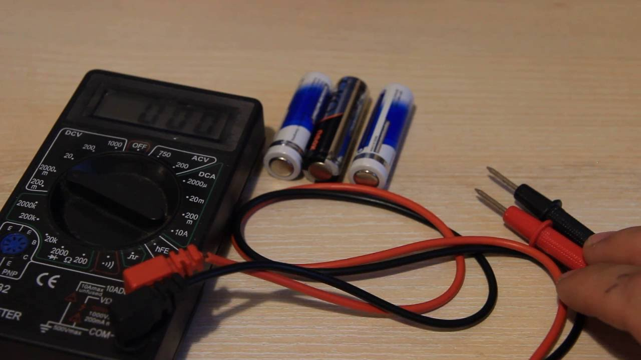 Как проверить заряд батарейки без вольтметра. How to check the battery charge without a voltmeter