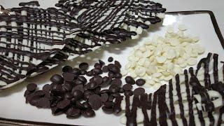 Chocolate Decorations || Cris-cross Chocolate Decor & Choco Chips || चाॅक्लेट गार्निश एवं चोको चिप्स