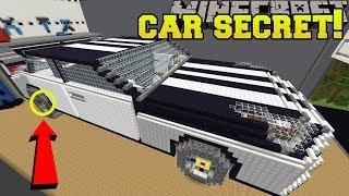 Minecraft: CAR SECRET!!! - BIG HOUSE LITTLE BUTTONS - Custom Map