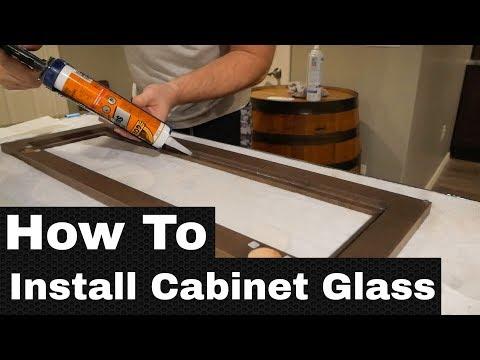 How To Install Cabinet Door Glass