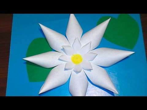 How to make a paper lily ✿ Application DIY