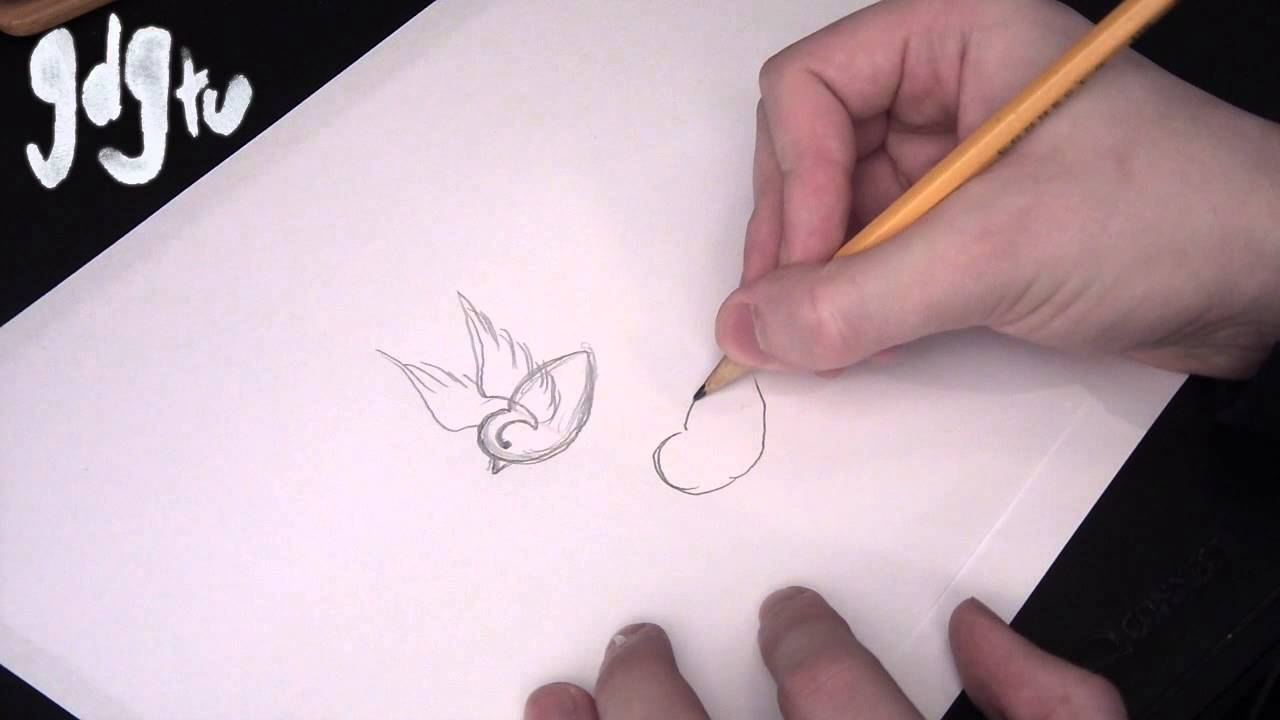 How To Draw Swallows And Sparrows Traditional Tattoo Flash Youtube