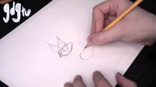 How to Draw Swallows and Sparrows - Traditional Tattoo Flash