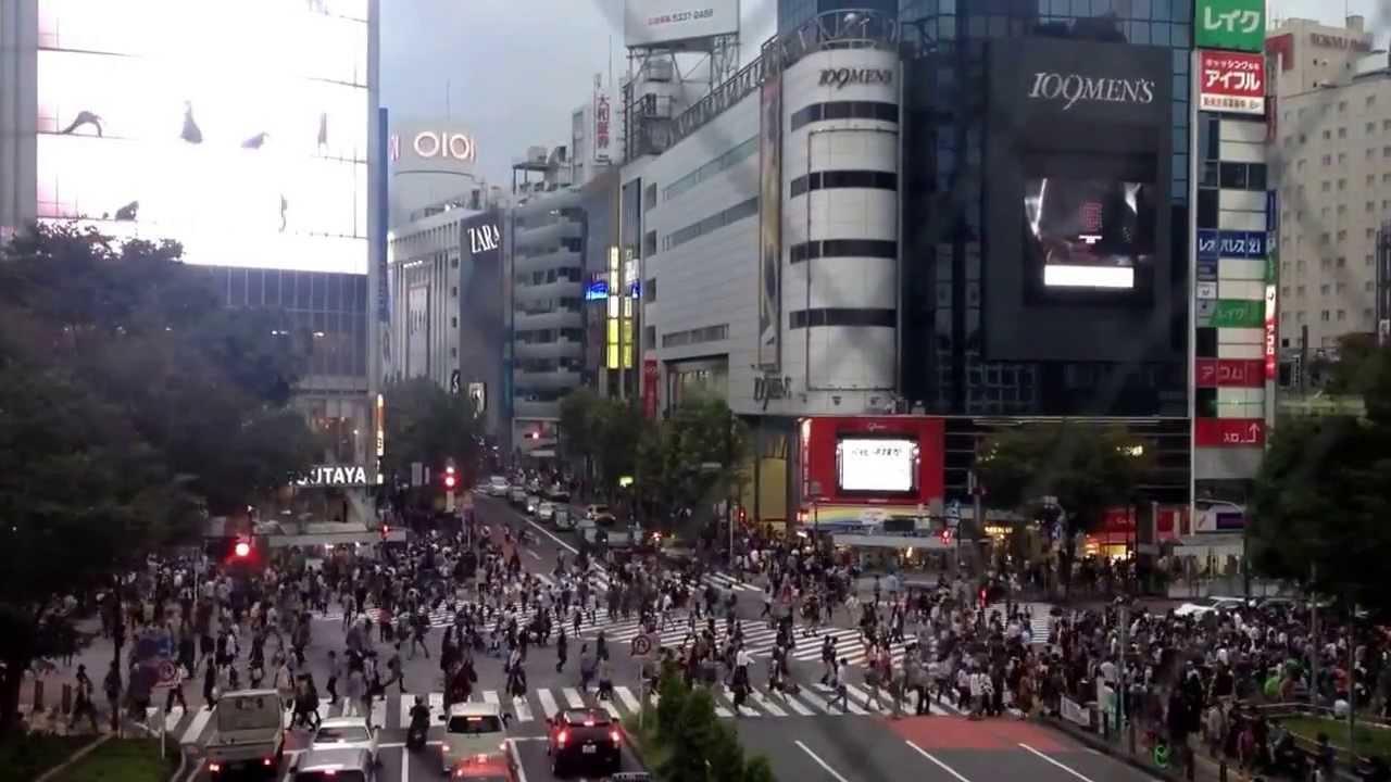 澀谷車站前永遠是人潮如蟻 - YouTube