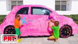 Carro rosa Vlad e Nikita para meninas
