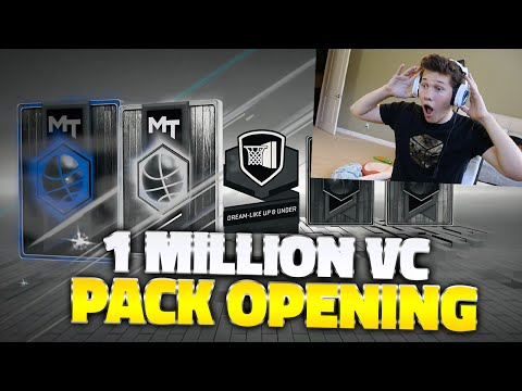 OMGG!! NBA 2K17 1 MILLION VC PACK OPENING!!