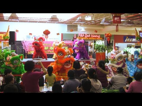 Lion Dance Calgary 2013 at T&T Supermarket Day 1 CNY