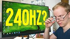 Onko 240hz pelinäyttö hintansa arvoinen? (2019)