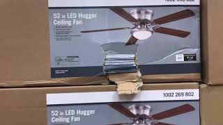 Ceiling fans and lighting at Home Depot