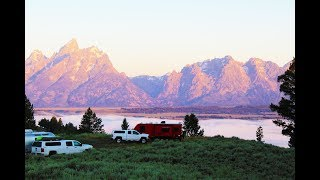BEST FREE CAMPING / BOONDOCKING Grand Teton National Park- Drive to Jenny Lake for Baby's first Hike