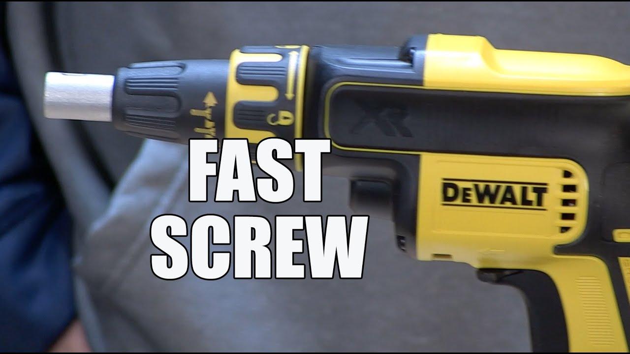 DeWALT DCF620 20V brushless Drywall Screw Gun - Sneak Peak