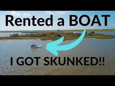 Rented A Boat To Fish EAST Galveston Bay... I Got Skunked