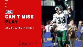 Jamal Adams Takes Flight on Pick 6