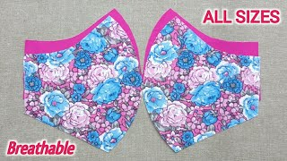 ALL SIZES Very Easy Pattern Mask How to make face mask at Home Face Mask Sewing Tutorial Mask