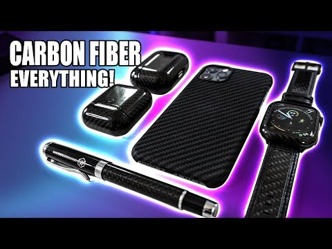 Ultimate Carbon Fiber Setup - Full Body Apple Watch, Airpods And MORE! Pitaka & Monocarbon