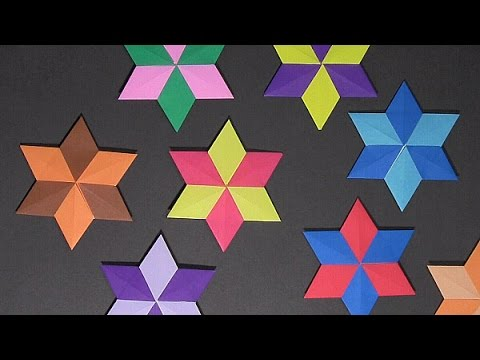 Origami Six Point Star