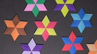 Origami Six Point Star - Easy to follow instructions