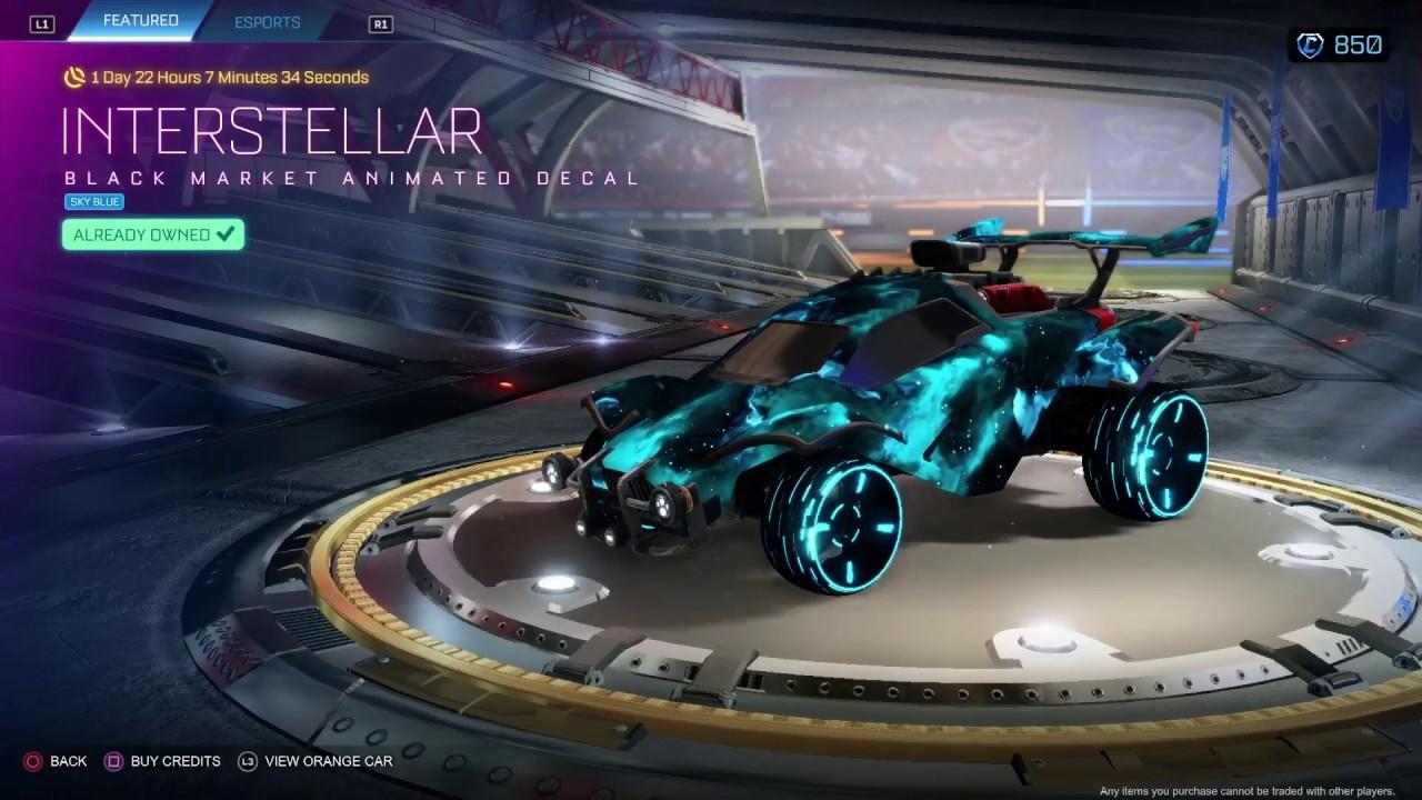 Rocket League Sky Blue Interstellar Youtube