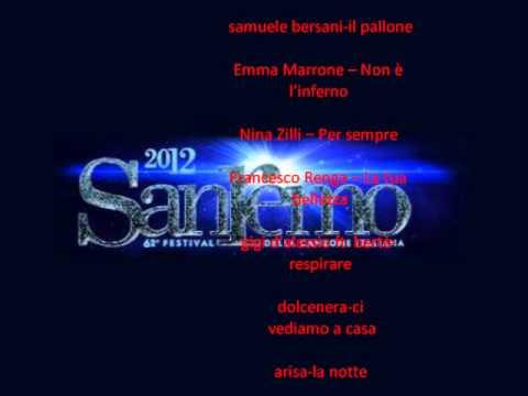 tutte le canzoni sanremo 2012 (BIG) da ascoltare GRATIS
