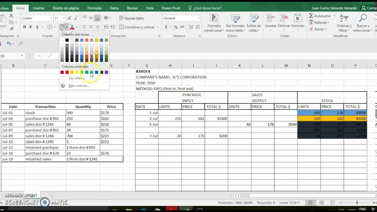 stock control excel template free