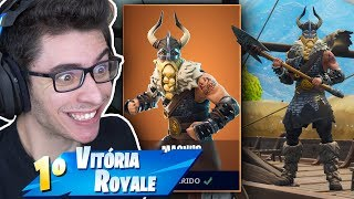 J'AI ACHETÉ THE LEGENDARY VIKING SKIN AND HAD TO MITAR!! Fortnite: Bataille Royale