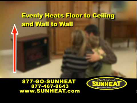 SUNHEAT Infrared Fireplace - YouTube