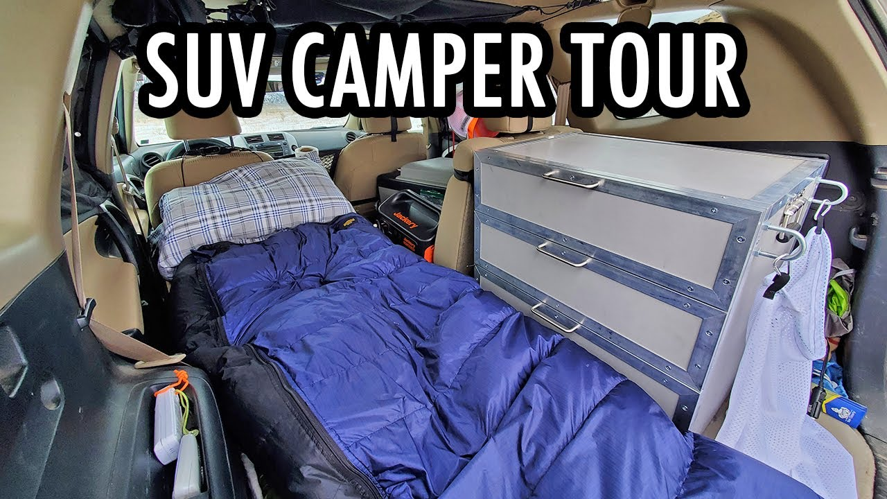 My SUV Camping Setup: Full Tour of My Mini Camper! (Vanlife in an SUV)