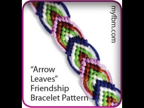 Friendship Bracelet Tutorial Arrow Leaves Pattern Knot It
