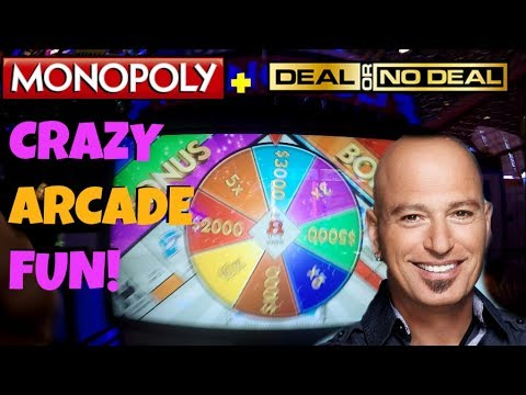 LUCKY CHANCE? Monopoly and Deal or no Deal Arcade Game Win FUN! Jackpot! | Jdevy