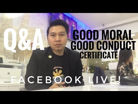 PAANO MAG APPLY NG GOOD MORAL/CONDUCT CERTIFICATE SA DUBAI? (via FB Live!)