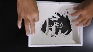Making of paper cut shadow light box