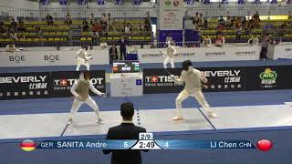 Wuxi 2018 Fencing World Championships mf t16 GER vs CHN
