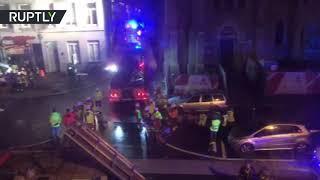 Huge explosion brings down building in Antwerp, Belgium