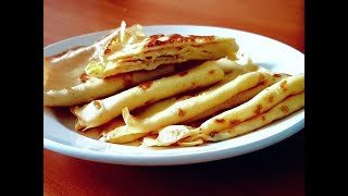 Быстрый простой завтрак.Яичные блинчики с сыром.