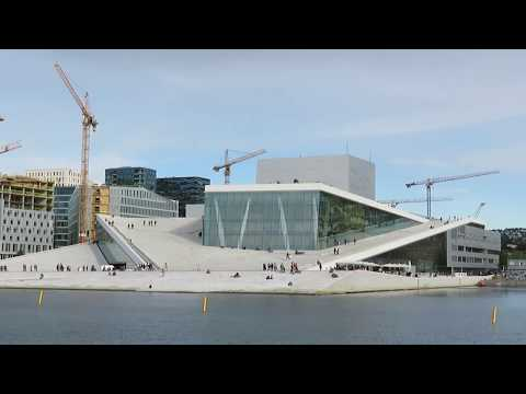 View of the Oslo Opera House - Oslo, Norway
