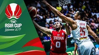 Highlights from Philippines v Jordan in Slow Motion - Classification 7-8 - FIBA Asia Cup 2017