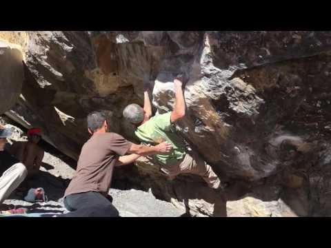70 year old climber crushing