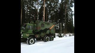 Adventure truck in winter wonderland